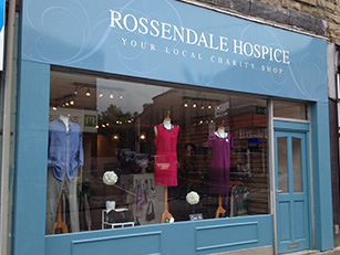 Rossendale Hospice Shop Front