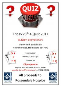 A flyer for Sunnybank Social Club's quiz night