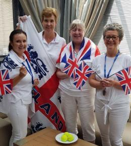 Our nurses dressed up ready for Wimbeldon