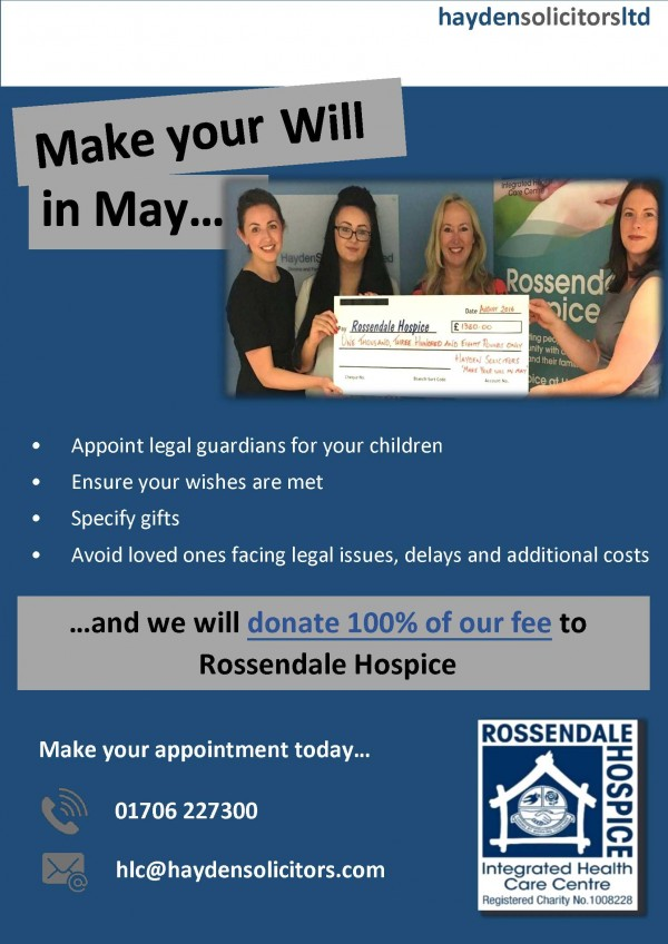 Make Your Will in May Campaign