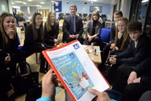 Pupils from Fearns High School formulating ideas
