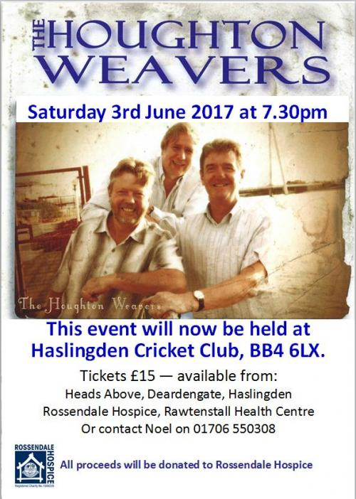 Houghton Weavers at Holden Arms poster