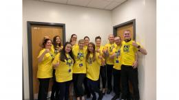Irwell Medical Practise team wearing Hospice supporter t-shirts