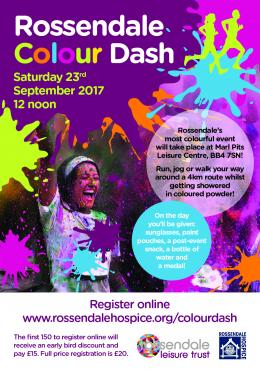 Rossendale Colour Dash Poster