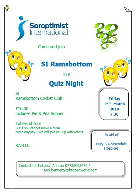 Soroptimist International Quiz Night