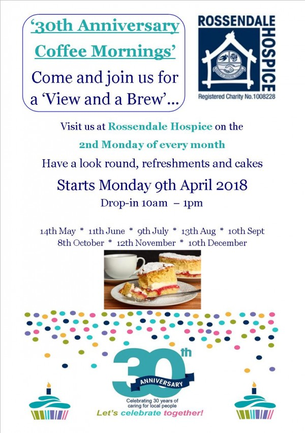 30th Anniversary Coffee Morning