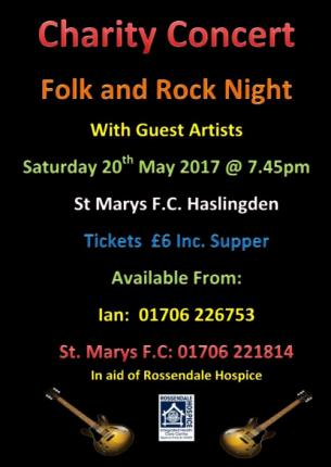 Charity Rock Band poster 2017