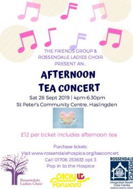 Afternoon Tea Concert poster