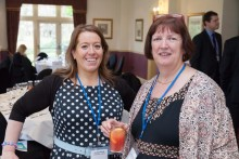 Irene Chambers, Trustee at Rossendale Hospice (on right)