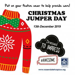 Christmas Jumper Day on Friday 13th December poster