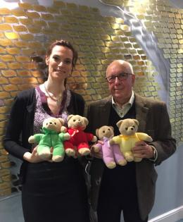 Picture of Freemasons donating teddy bears