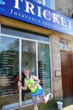 Janine Packman outside Tricketts