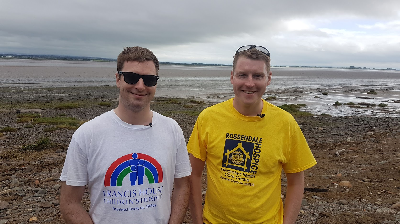 Andrew Lindsay and friend picture after walking Hadrisna Wall