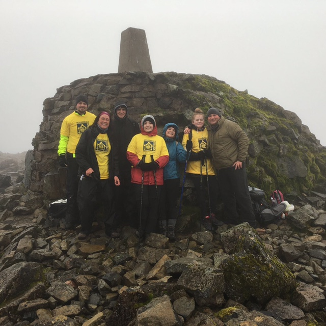 Ella McGovern with friends and family on Ben Nevis