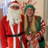 Santa and his Elf visting day therapy patients